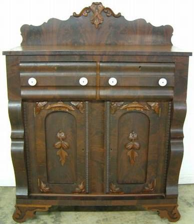 Antique Empire Flame Mahogany Jelly Cupboard Photographed By John Reinhart