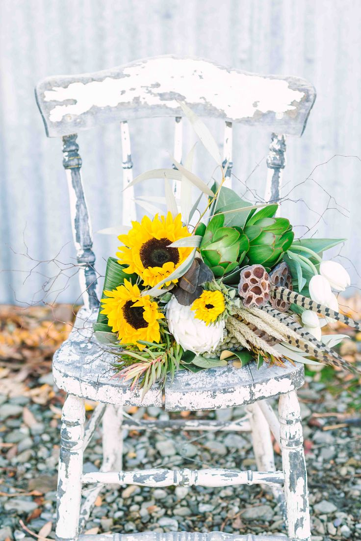 Country Cottage chair $10. Perfect for flowers or to accompany the signing table.