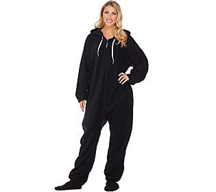 Forever Lazy One-Piece Fleece Footed Adult Pajamas With Pockets