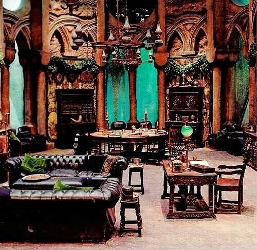 Slytherin themed bedroom