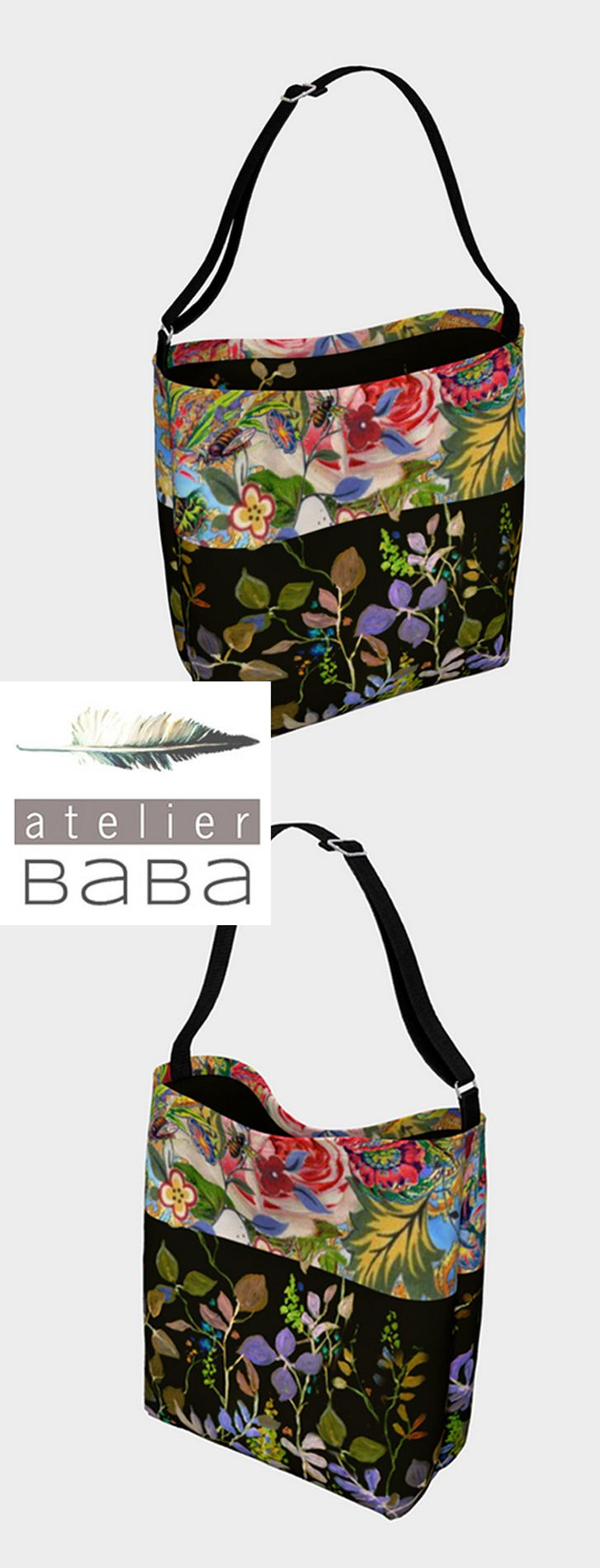 Bohemian Bee Garden Tote by atelierbaba on Art of Where. Lovely.