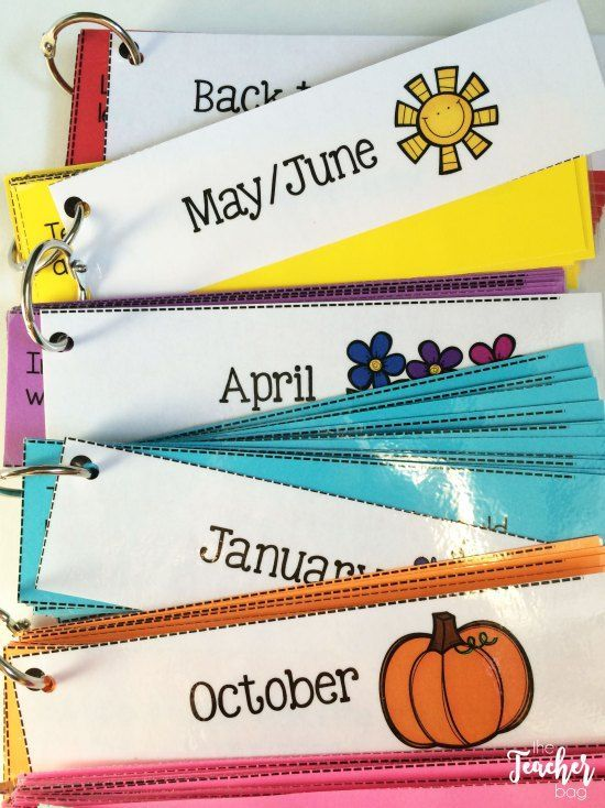 journal strips put onto rings so they can be used as discussion cards