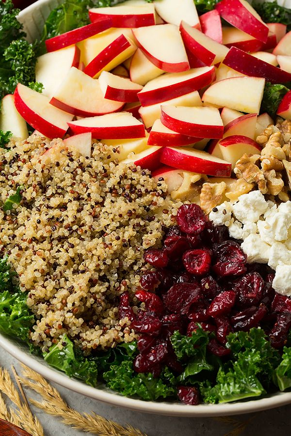 Autumn Kale Apple and Quinoa Salad | Cooking Classy