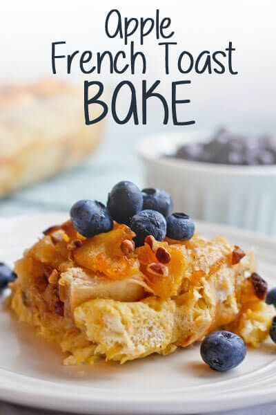 This Apple French Toast Bake is made with fresh apples-- cooked down and softened into a chunky applesauce-- dried dates, raisins, nuts, and chunks of French bread all tossed in a custard sauce and baked to perfection.