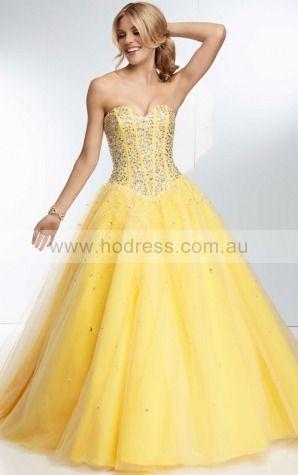 Sleeveless Sweetheart Lace-up Tulle Floor-length Formal Dresses zyh224--Hodress