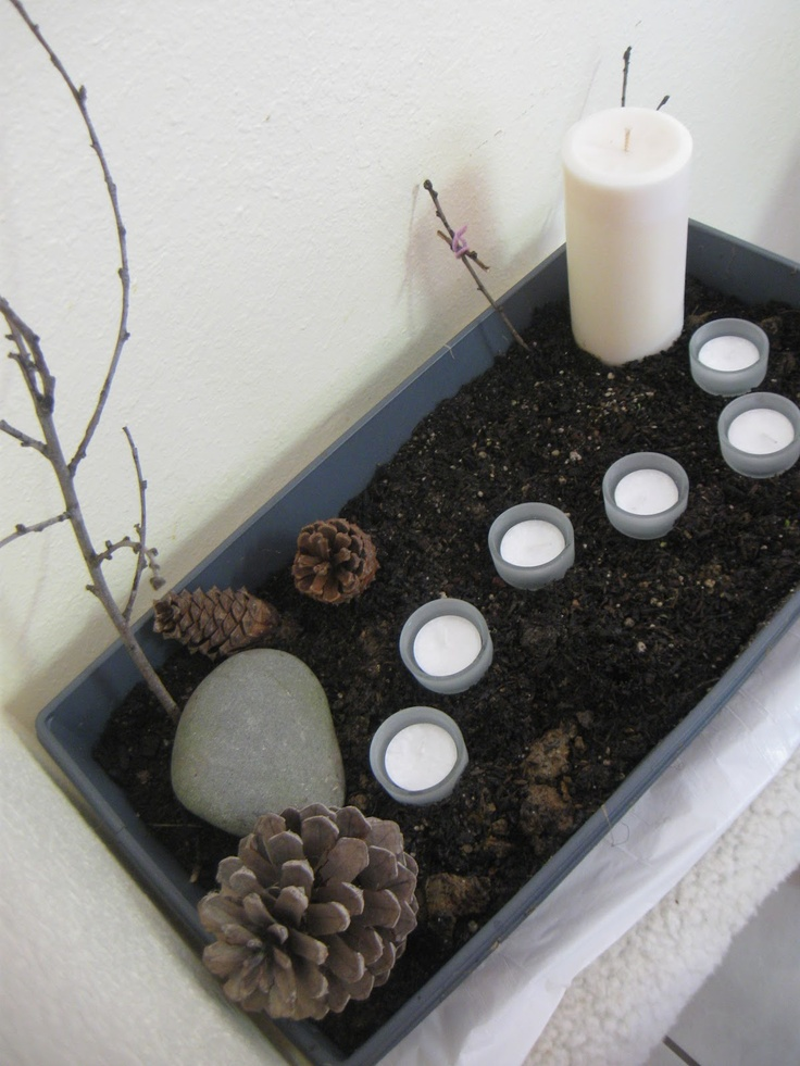 Lenten Garden (beginning of Lent)
