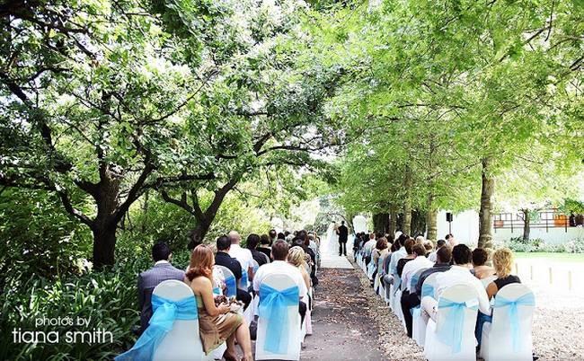 Top 20 Garden & Outdoor Wedding Venues in Cape Town | Confetti Daydreams - #Backsberg wedding ceremony venue set amongst beautiful gardens ♥ #Garden #Outdoor #Wedding #Venues #Cape #Town