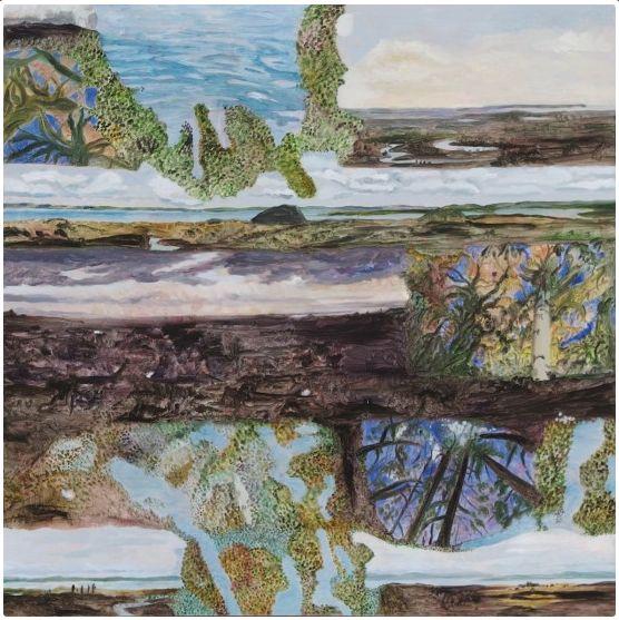 Barbara Tuck, Ghosting Kaipara, 2013 from Ka ecologies Oil on board, 790 x 790mm