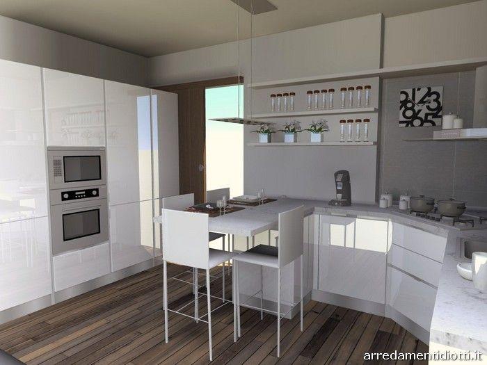 oltre 25 fantastiche idee su cucina bianca lucida su pinterest ... - Cucina Bianca Con Isola