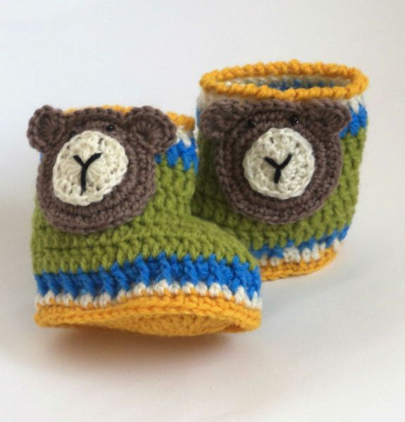 Crochet baby bear. Crochet baby bear booties. Size from Crocheted booties, blanket, exclusive garments are handmade   LyudmilaHandmade by DaWanda.com