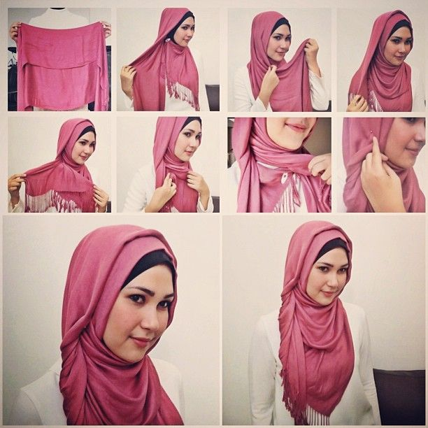 this isnt DIY but i love a sweet and simple and small hijab tutorial :) | Visit our pintrest.com/hijabtutorial
