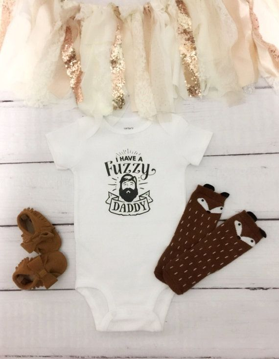 I have a Fuzzy Daddy Beared Loving Onesie from Etsy featured on Monday Morning Coffee - Actually Ashley