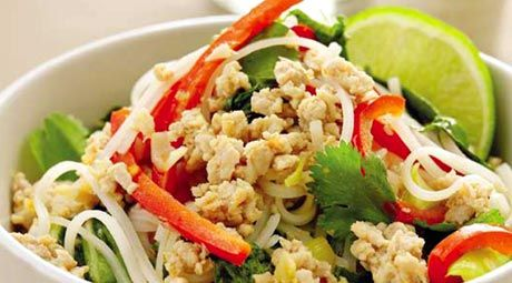 This sensational Thai-style chicken and rice noodle stir fry is a guaranteed crowd-pleaser.