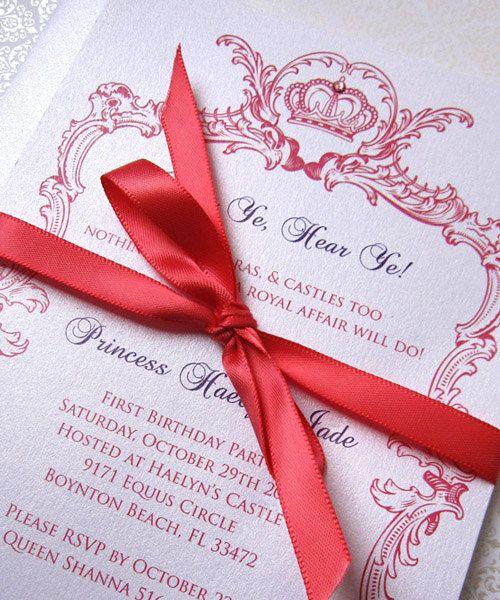 Princess invitation: Birthday Party Invitations, Flats Cards, Emry Birthday, 1St Birthday, Party'S Prince Birthday, Invitations Types, Birthday Parties Invitations, Invitations Cards Tags, Birthday Ideas