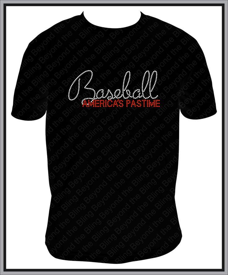 Baseball bling shirt America's pastime baseball bling shirt rhinestone bling shirt baseball bling shirt Rhinestone baseball Bling Shirt by BeyondtheBlingUSA on Etsy