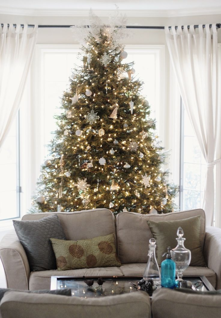 turquoise and silver christmas decorations - Google Search