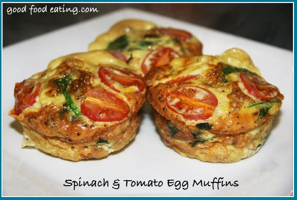 spinach and tomato egg muffins