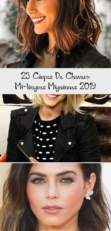 23 Coupes De Cheveux Mi-longues Mignonnes 2019 in 2020
