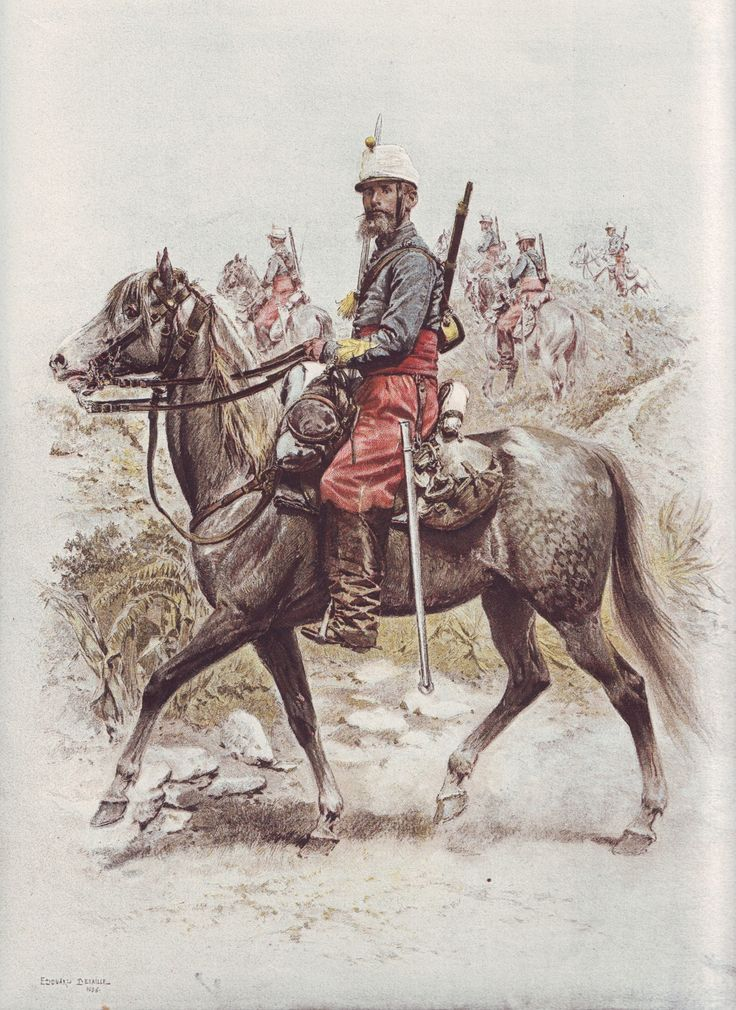French Army 1900 Chasseurs Afrique by Édouard Detaille