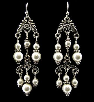 Pearl Chandelier Earrings | Earrings