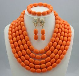La joyería nupcial india fijó el sistema africano determinado del collar del ahogador de Jewellry del traje africano de los granos de la boda que enviaba libremente