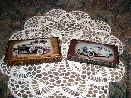 """Купюрница """"Ретро автомобиль"""" - подарок на день рождения,подарок на любой случай"""