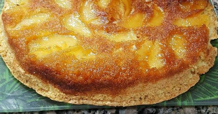 Fabulosa receta para Torta de manzana invertida. Fácil hasta yo pude hacerla