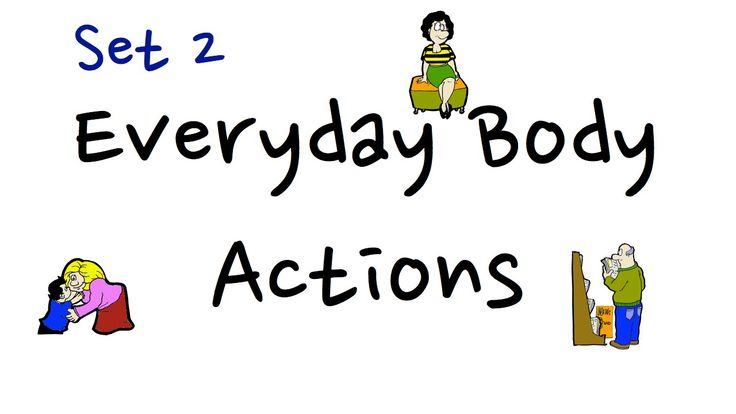 Everyday Body Actions   Set 2.   Easy English Conversation Practice   ESL.