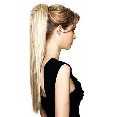 Top Grade Synthetic Long Straight Blonde Ponytail - USD $ 9.99