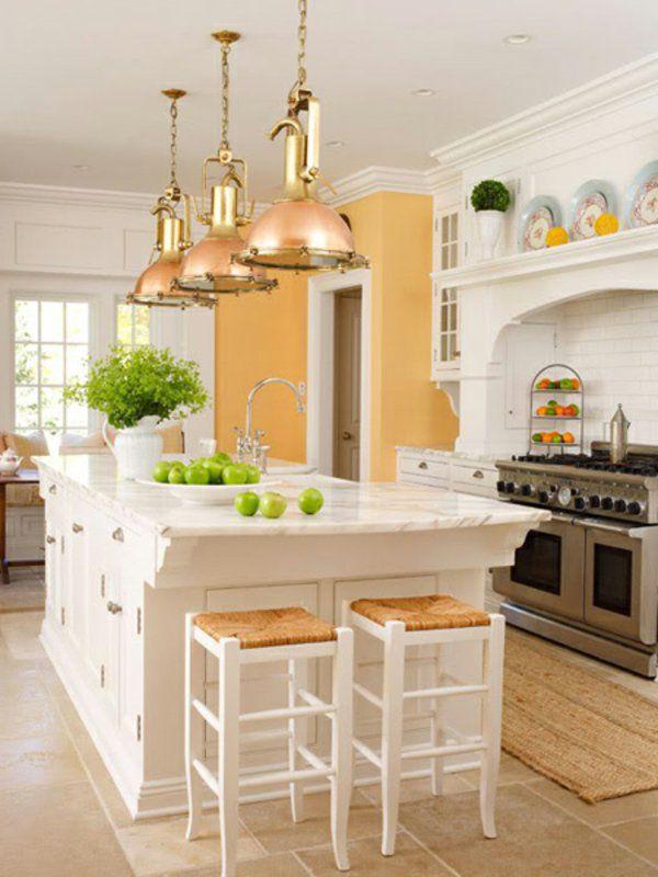 -ilot-central cuisine ikea des lampes intérésantes et style frais