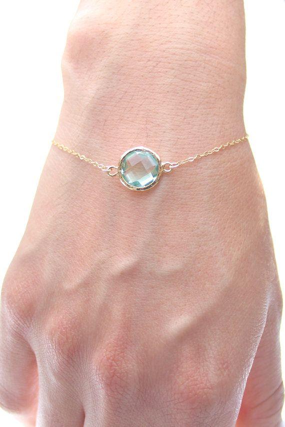 Prasiolite Green / Gold Round Bracelet  Prasiolite by ForTheMaids