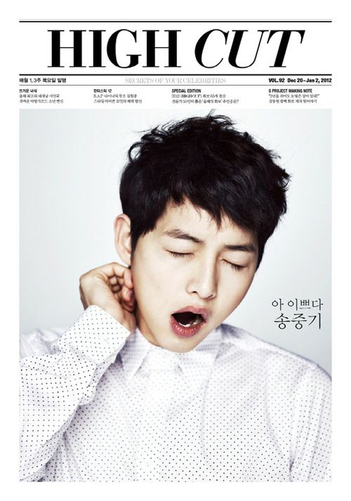 Song Joong Ki - High Cut Magazine Vol.92 @Krista Saufler you would look great with this haircut.