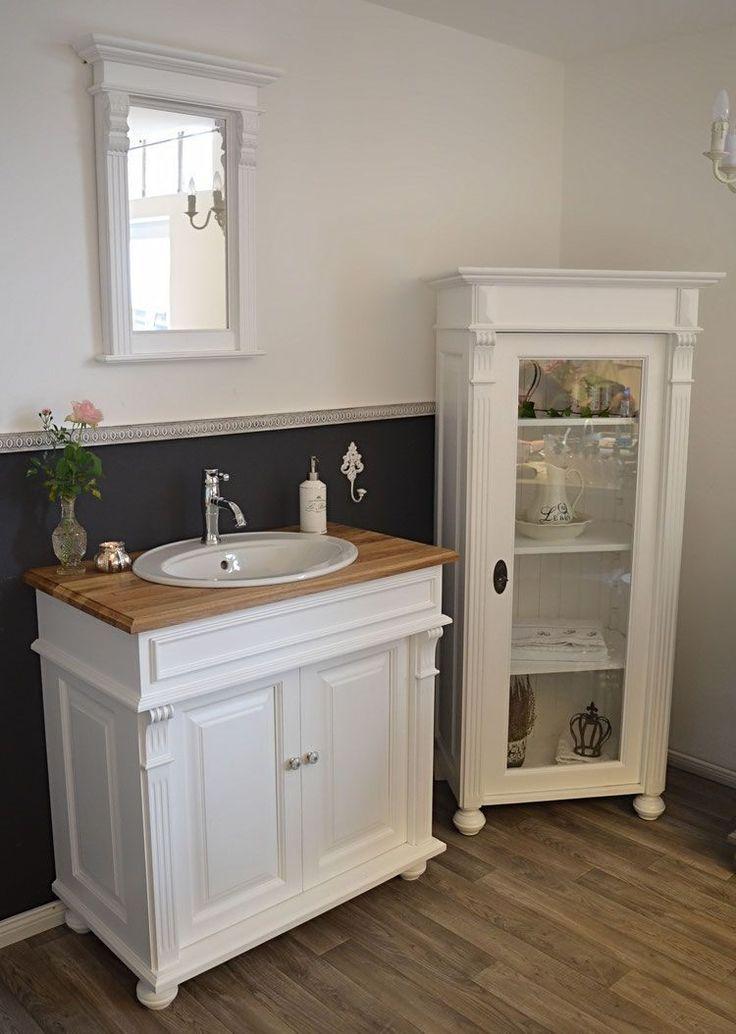 9 Eleganter Badezimmerschrank Limour Massiv Getischlerte Neuware Im Eintagam Badezimmer Schrank Shabby Chic Badezimmer Landhaus Mobel