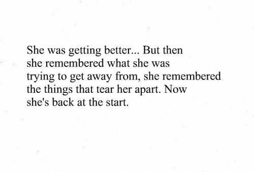 we get better we feel better but the scares remain to remind us of our past