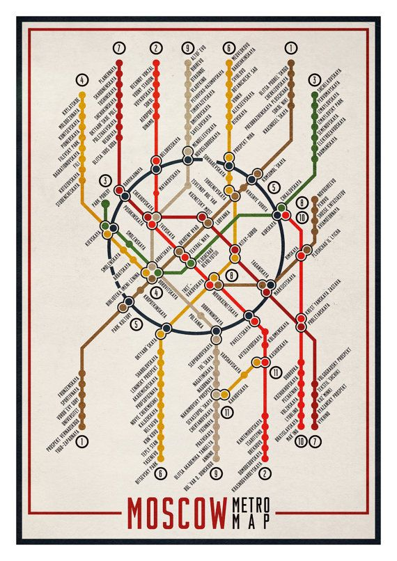 Moscow Metro Map by edu