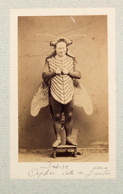 Actor in a fly costume. Paris, 1865.    http://semioticapocalypse.tumblr.com