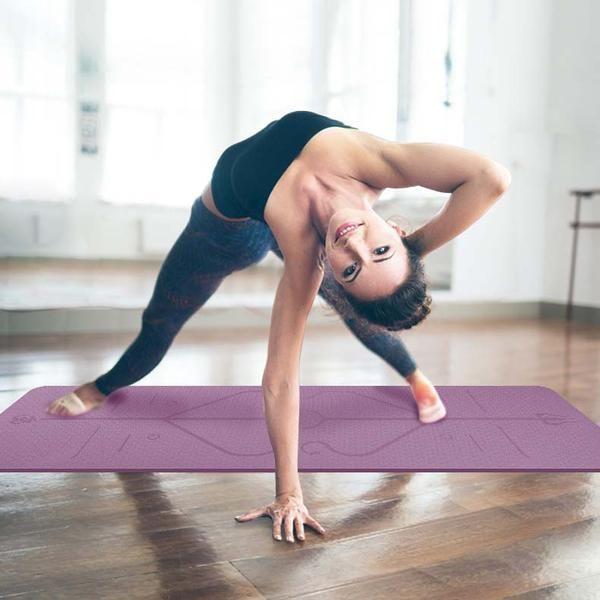 Two-tone TPE yoga mat (Position Line) – Lohas Body