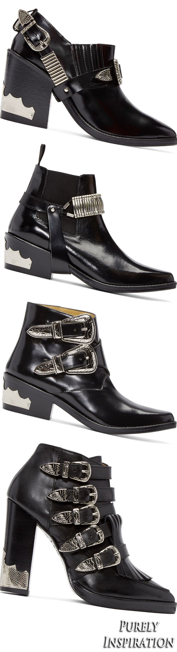 Toga Pulla black leather boots | Purely Inspiration