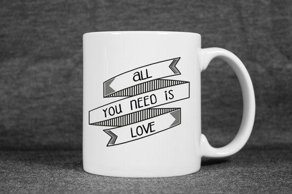 Cool Coffee Mug  Motto Unique Coffee Mug  Statement by detcraft - #etsy #etsyfind #sweet #mug  #fashion #shopping #coffee #thebeatles #funny #holiday #weekend #allyouneedislove  #fun #fashion  #cool  #cute  #coffeelover #birthday #gifts #eheheh #winter  #snow  #lyric #valentinesdaygift  #happynewyear #valentinesday #lover  #giftideas