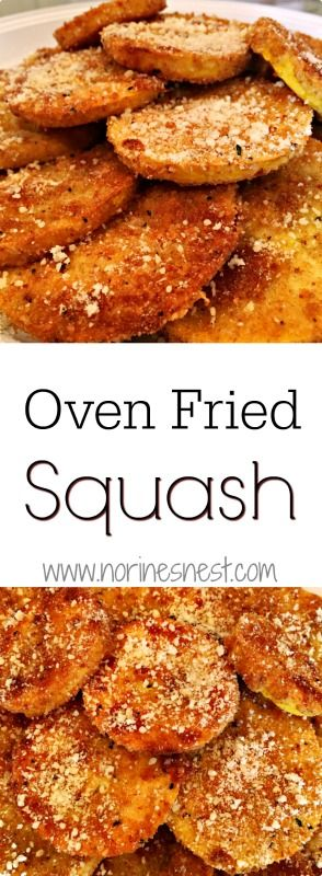 Oven Fried Squash with Zucchini or Yellow Squash