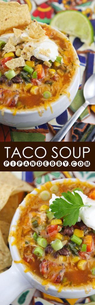 Taco Soup | Warm up with this spicy, yummy taco-inspired soup!
