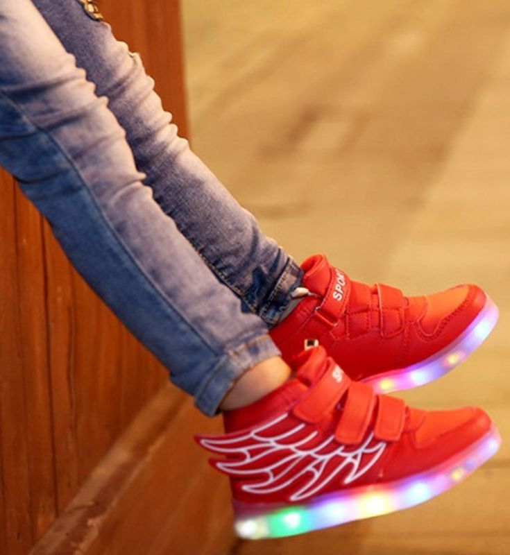 Rechargeable LED Light-up Sport Shoes Fashion Sneakers