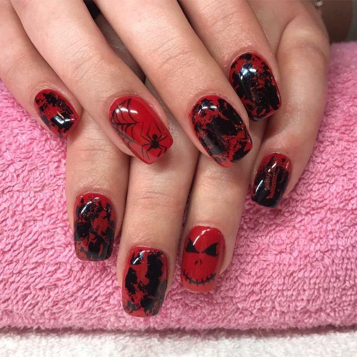 Halloween Nail Art at California Nails #halloween #halloweennails #nails #nailart #californianails #nailinspo #nailinspiration #nailinspiration #naildesign #nailswag