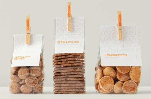 Laundry-Line Biscuit Branding - BBROOD Packaging Leaves Over-Designed Competitors Out to Dry (GALLERY)