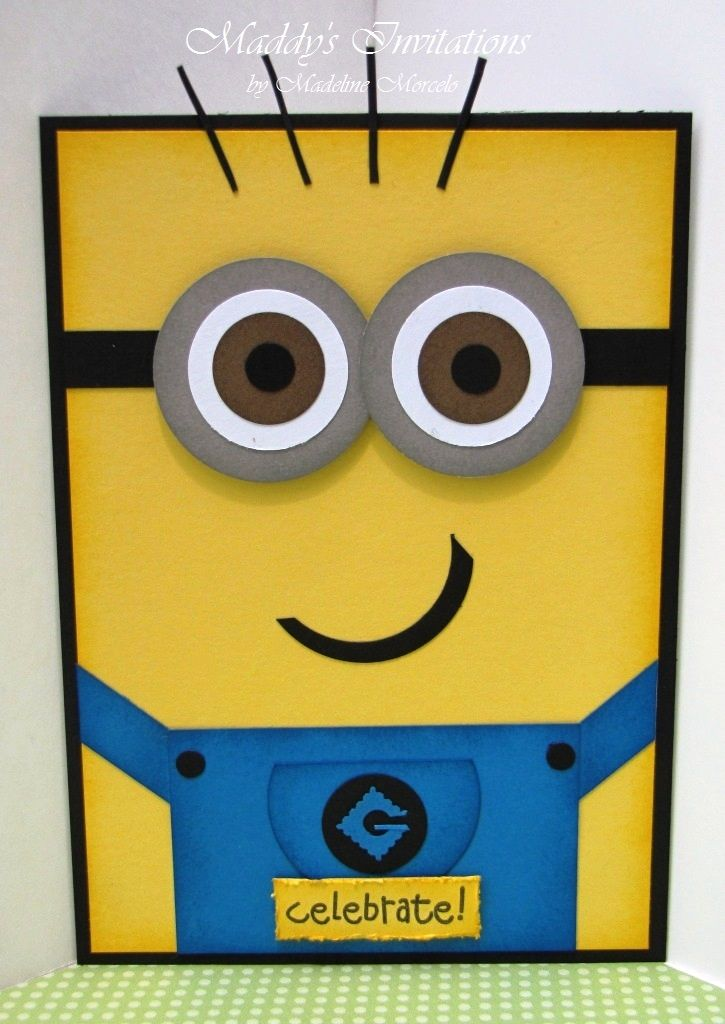 Maddy's Invitations: Despicable Me...Minions Invitations!!