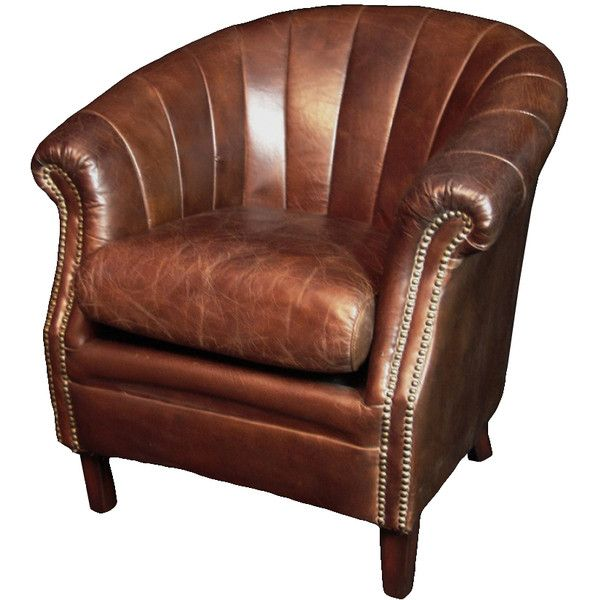 Felix Leather Armchair (€1.300) ❤ liked on Polyvore featuring home, furniture, chairs, accent chairs, leather accent chairs, handcrafted furniture, leather occasional chairs, hand made furniture and leather furniture