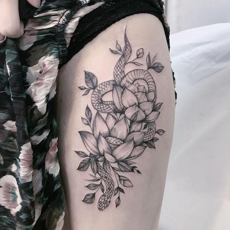 Tatuagem na coxa: 120 ideias para você pensar na sua próxima tattoo | Tatuagem na coxa, Tatuagem, Tatuagem no quadril