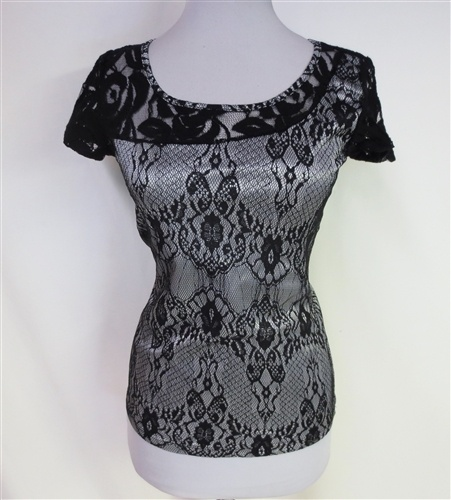 A Trace of Lace Top-NEW!