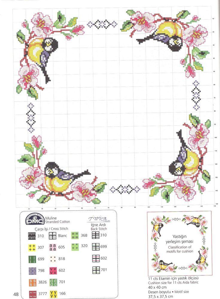 Мобильный LiveInternet Птички на скатерти. Схемы вышивки крестом | Марриэтта - Вдохновлялочка Марриэтты |