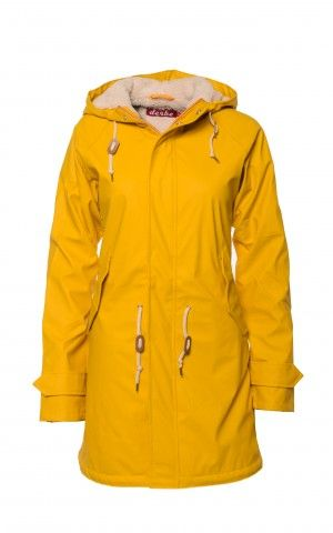 Derbe Cozy Travel Friese Gelb Regenjacke #gefüttert #herbst #friesennerz